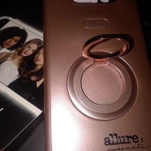 Samsung galaxy s8 selfie phone case rose gold